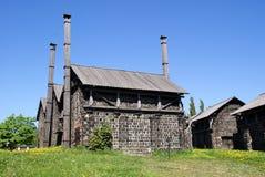 木炭芬兰烤箱 库存照片