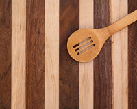 木烹调匙子 图库摄影