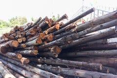 木物质建筑 免版税库存图片