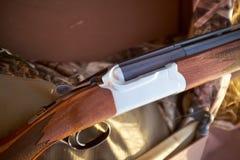 木猎枪细节  免版税库存照片