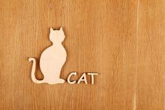 木猫剪影 库存照片