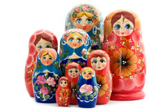 木玩偶的matrioshka 免版税图库摄影