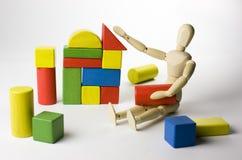 木玩具作用 免版税库存照片