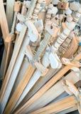 木玩具剑 免版税库存照片
