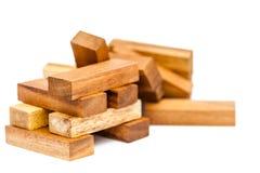 木玩具块 免版税库存图片