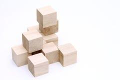 木玩具块 库存照片
