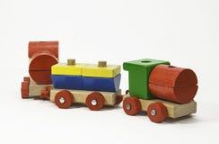 木玩具火车 免版税库存照片