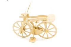 木玩具自行车 免版税库存图片