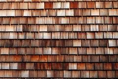 木瓦屋顶纹理在Schwarzwald,德国 免版税图库摄影