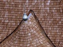 木瓦屋顶 库存图片