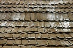 木瓦构造木 免版税图库摄影