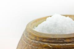 瓶子盐 免版税库存照片