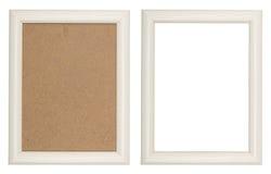 木白色画框 免版税图库摄影