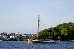 木的三桅帆 库存照片