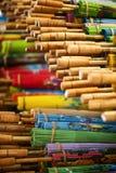 木的伞 免版税库存照片