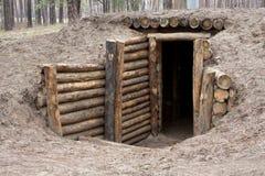木的入口 库存图片