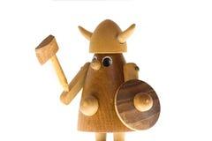 木的北欧海盗 免版税库存图片