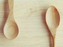 木的匙子 库存图片