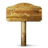 木的匾 图库摄影