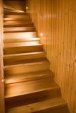 木的台阶 库存照片