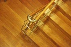 木的台阶 免版税库存图片