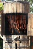 木的吸烟者 库存图片