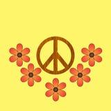 木的和平标志 免版税库存照片