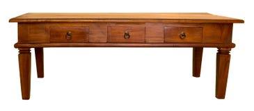 木的咖啡桌 库存照片