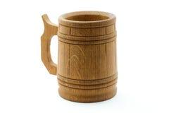 木的啤酒杯 免版税图库摄影