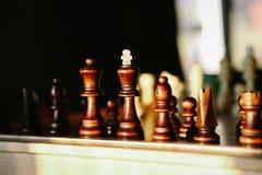 木的国际象棋棋局 库存照片