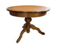 木的圆桌 免版税库存照片
