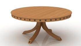 木的圆桌 免版税库存图片