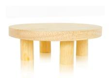木的圆桌 库存照片