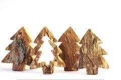 木的圣诞树 库存图片