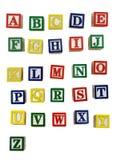 木的块字母 免版税库存照片