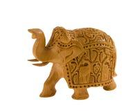 木的大象 免版税图库摄影