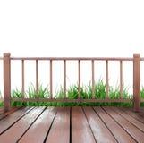 木的大阳台 库存照片