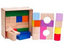 木的婴孩,几何形状,隔绝在白色背景 免版税库存照片