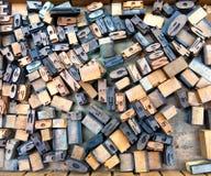 木的字体 免版税库存图片