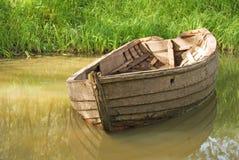 木的小船 库存照片