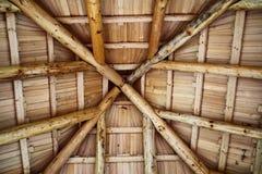 木的屋顶 库存图片