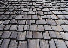 木的屋顶 库存照片
