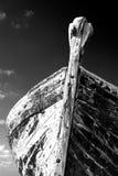 木的废船 库存图片