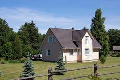 木的房子 库存照片