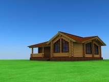 木的房子 向量例证