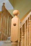 木的扶手栏杆 免版税库存图片