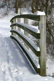 木的扶手栏杆 免版税图库摄影