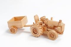 木的拖拉机 免版税库存照片