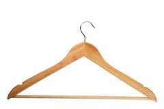木的挂衣架 库存图片