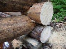木的接近的房子零件 免版税库存图片